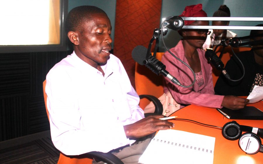 Vusumuzi Mahlangu at a radio discussion that was conducted by Women's Institute for Leadership Development (WILD)